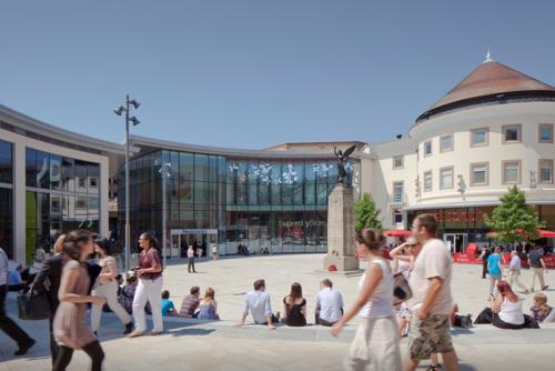 Woking Town Centre Street Scene